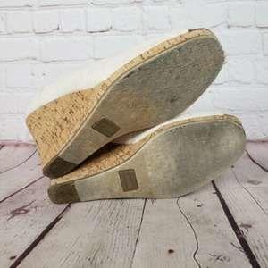 TOMS Shoes - Toms Stella Cork & Canvas Wrap Wedge Heels